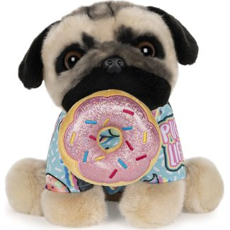 Gund Doug The Pug Donut, 9 in.