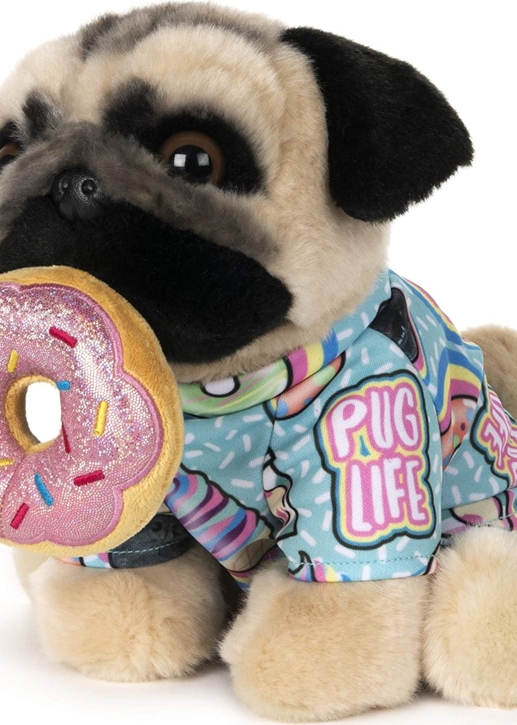 Gund Doug The Pug Donut, 9 in.