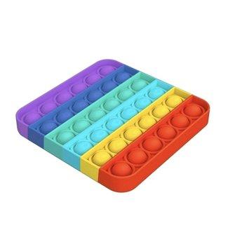 Top Trenz OMG Pop Fidgety Square Rainbow
