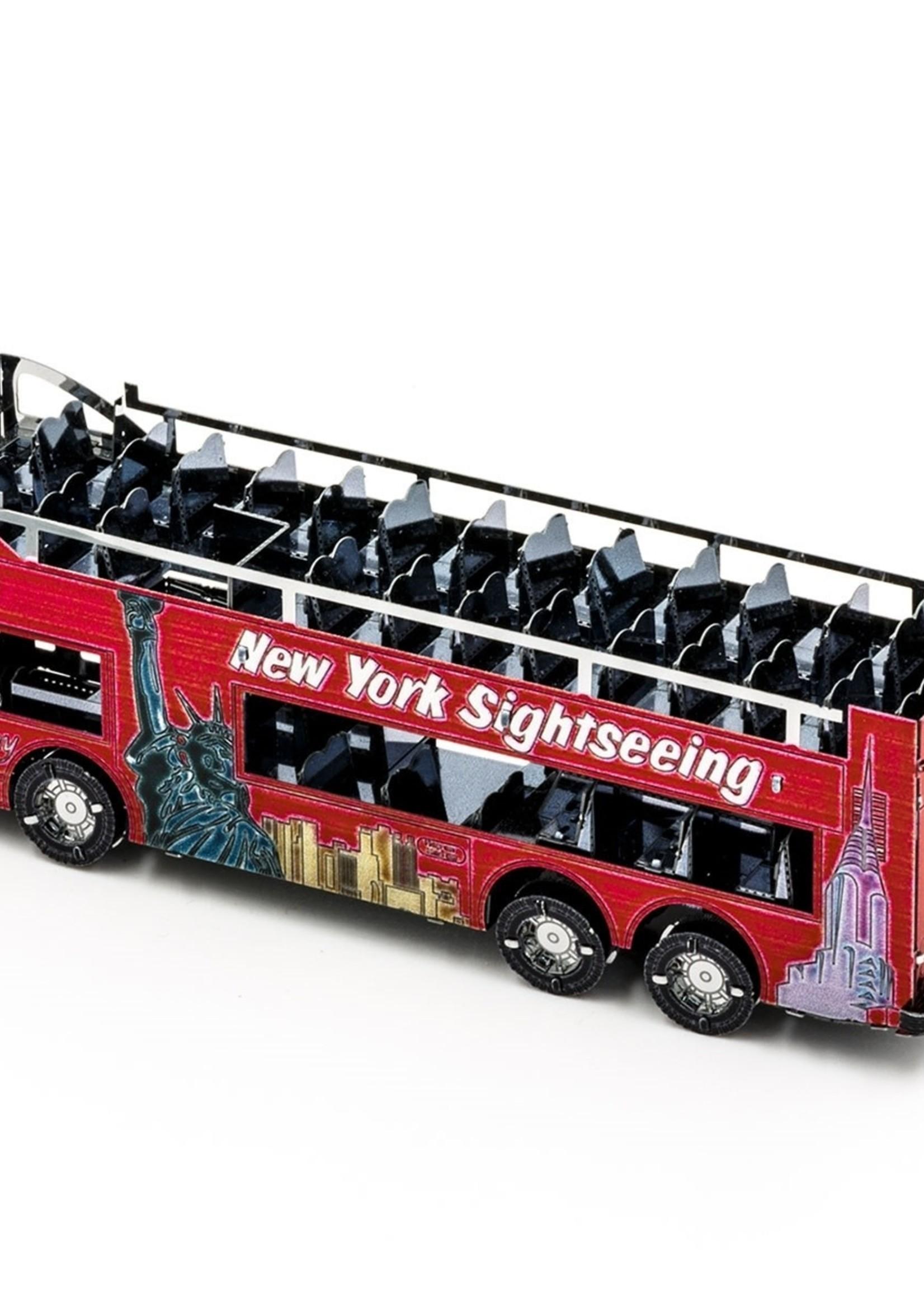 METAL EARTH Big Apple Tour Bus - COLOR