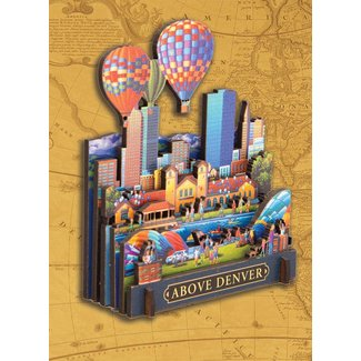 Dowdle Folk Art Above Denver 3D Puzzle