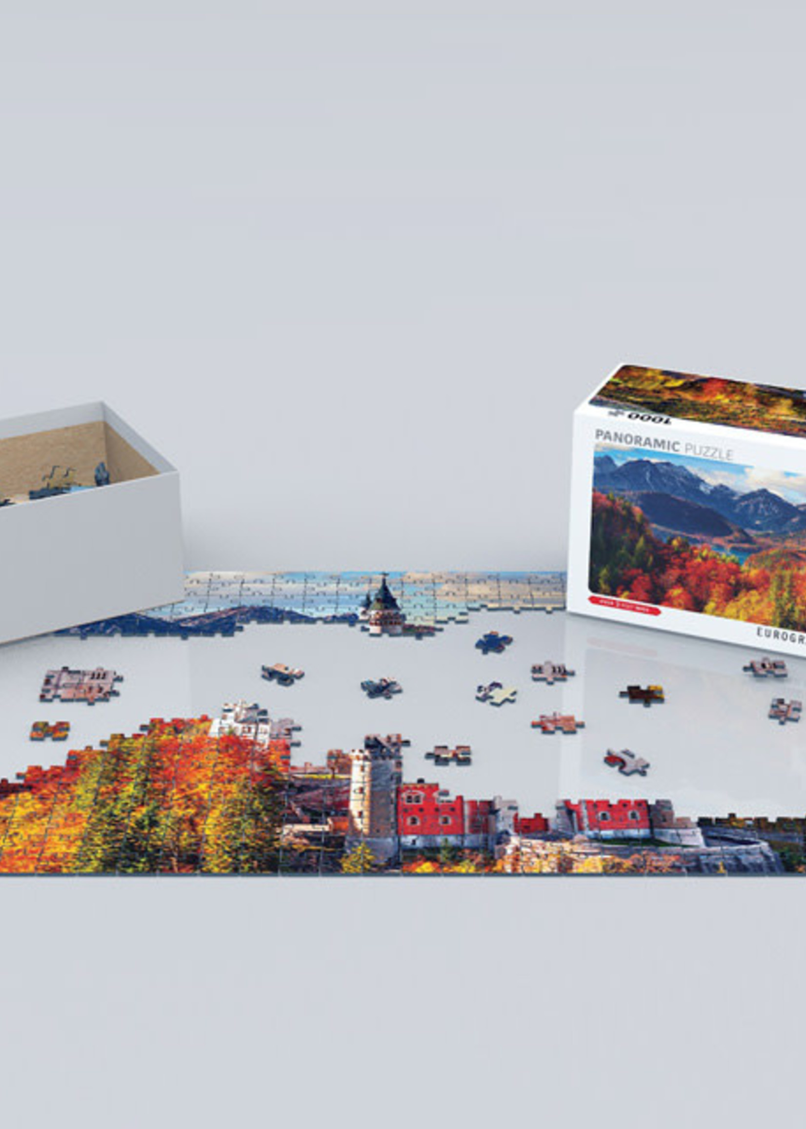 Neuschwantein in Fall Panorama (1000pc)