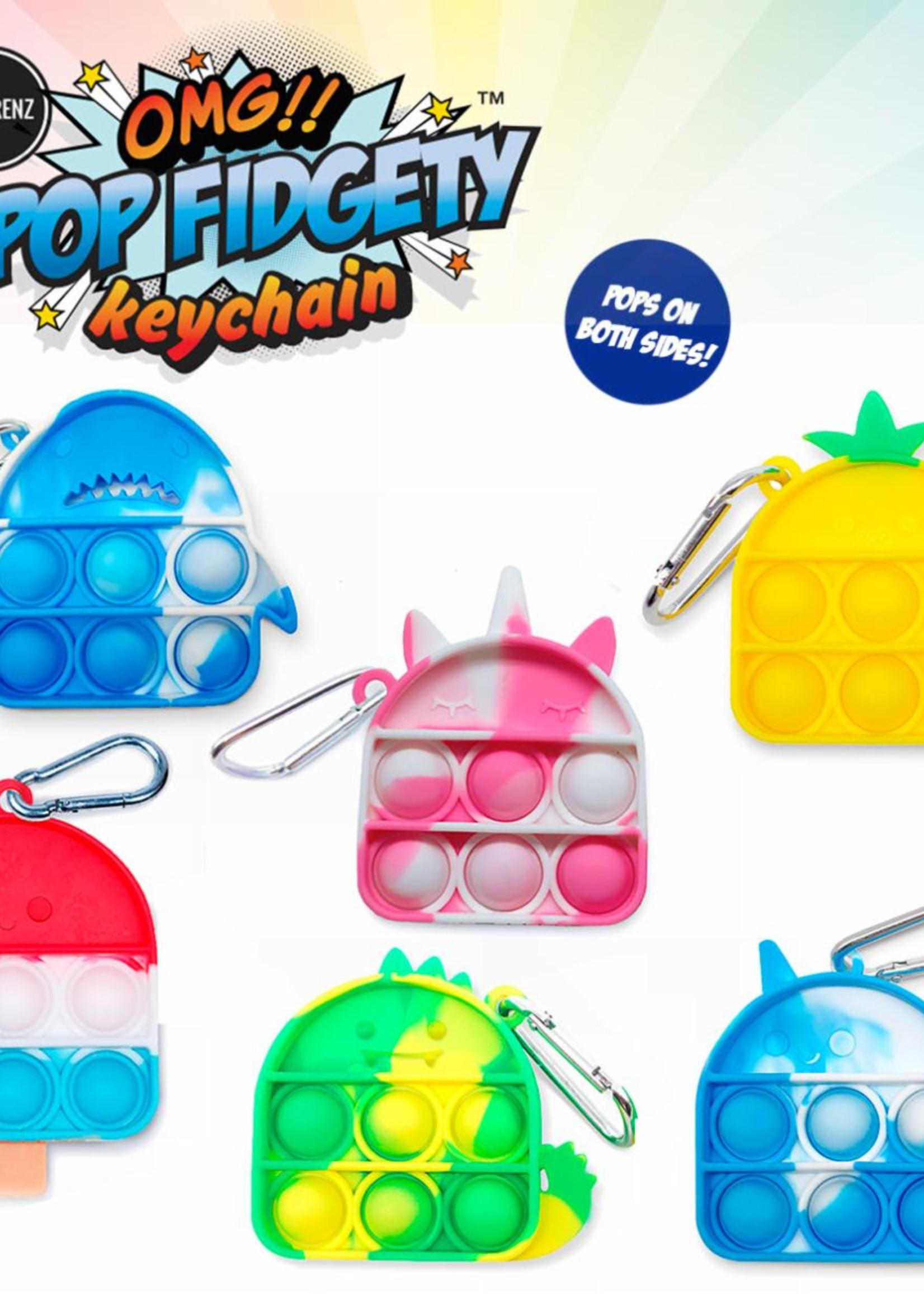 OMG Pop Fidgety keychain