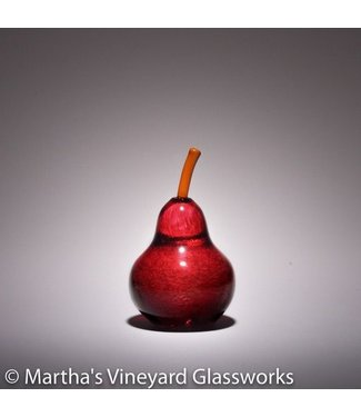 MVG Pear in Gold Ruby with Yellowish Aurora Stem