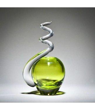 Michiko Maekawa Spiral Bud Vase Apple Citron