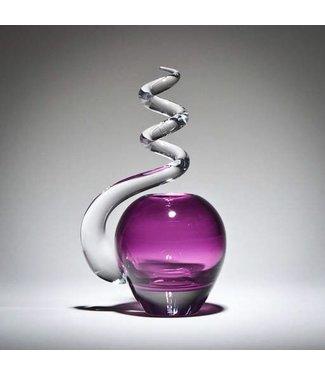 Michiko Maekawa Spiral Bud Vase Apple Gold Amethyst