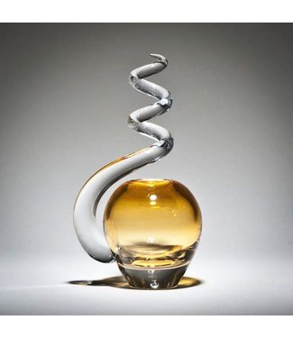 Michiko Maekawa Spiral Bud Vase Apple Gold Topaz