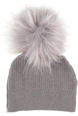 Clo Clo Knit Rib Pom Pom Baby Hat