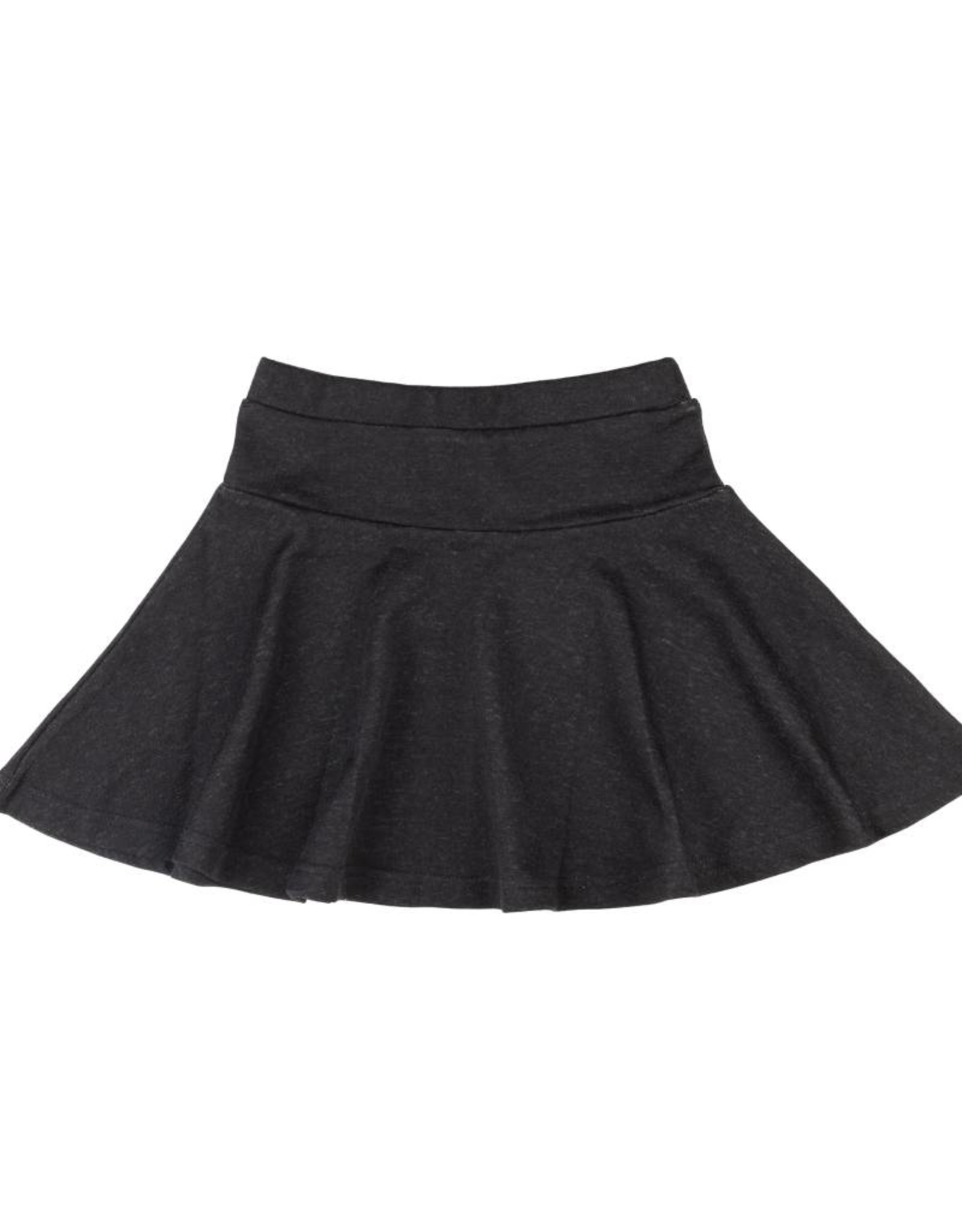 FIVE STAR Drop Waist Circle Skirt Black