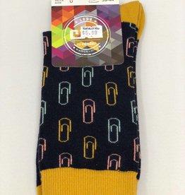 Condor CND Boys Paper Clip Print Sock