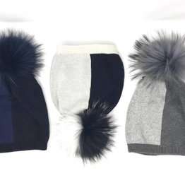 Maniere Maniere Adult ColorBlock Fur Hat
