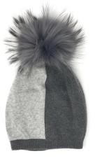 Maniere Maniere Adult ColorBlock Fur Hat