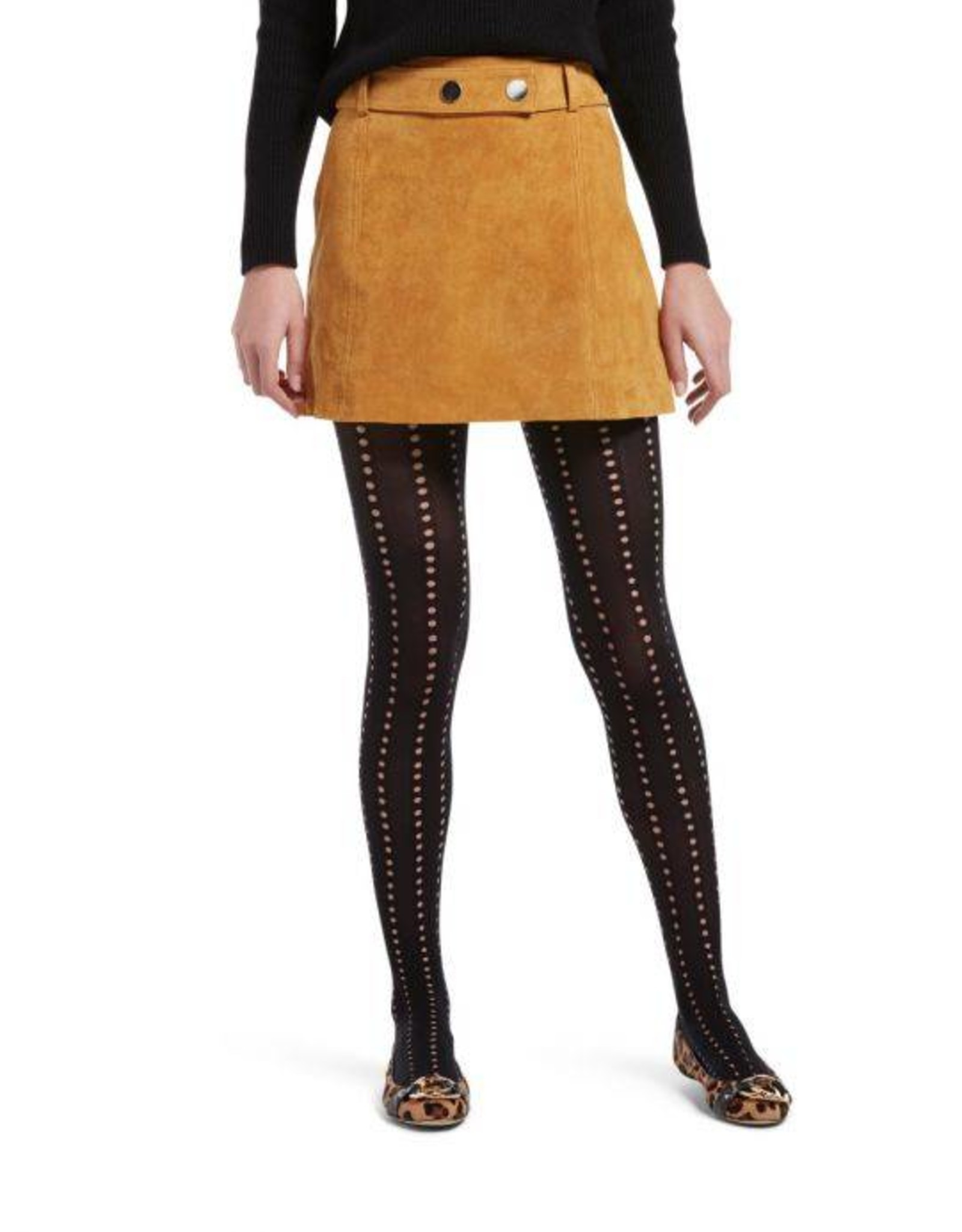 Hue HUE Eyelet Cable Tights with Control