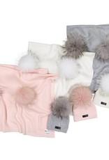 Maniere Maniere Pom Knit Blanket