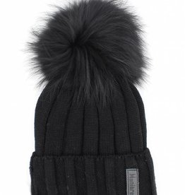 Maniere Maniere Kids Ribbed Merino Wool Knit Hat