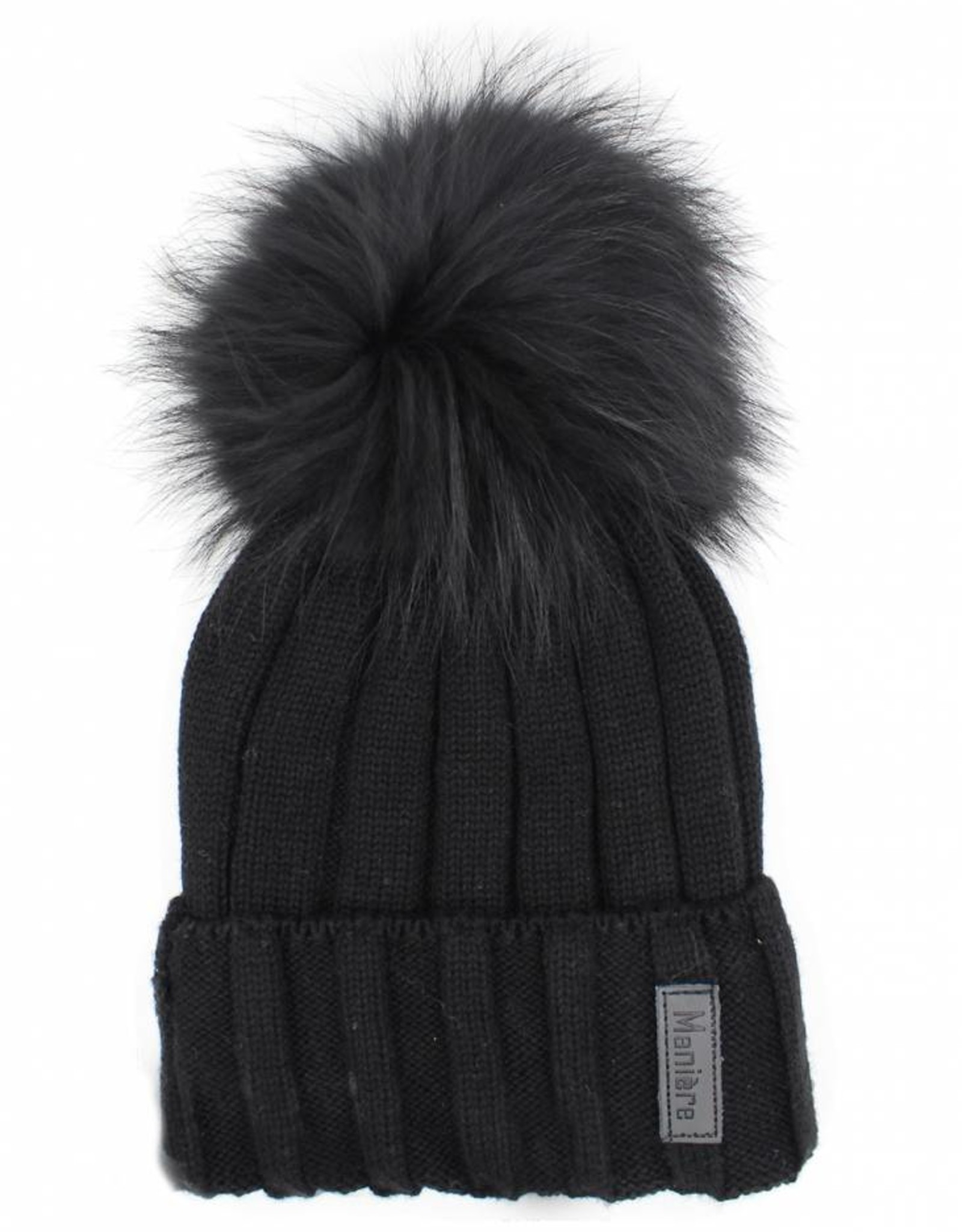 Maniere Maniere Adult Ribbed Merino Wool Knit Hat