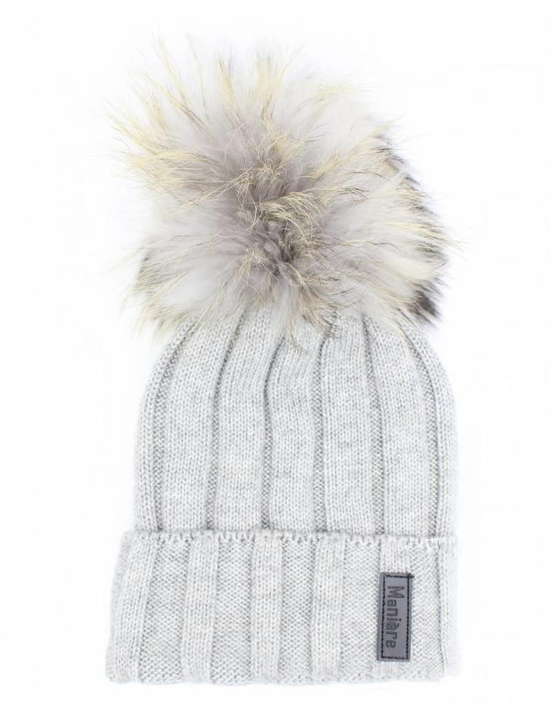 Maniere Maniere Adult Ribbed Merino Wool Knit Hat - Toetally You 2a6400d41a1a