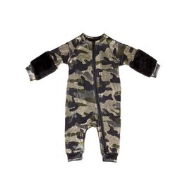 Frenchie Frenchie Camo and Fur Coverall