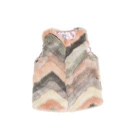 Frenchie Frenchie Pastel Faux Fur Vest