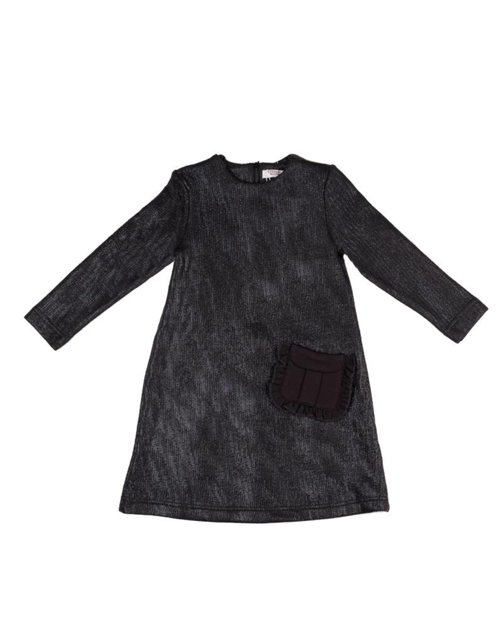 Tiffany Tiffany Metallic Open-Back Dress with Pocket