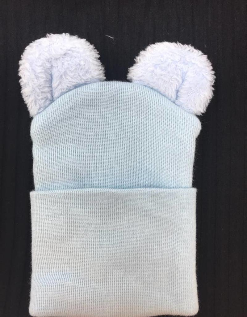 2b414bc8f7b ILYBEAN Fuzzy Bear Ears Newborn Hat - Toetally You