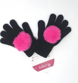 Maniere Maniere Faux Fur Pom Kids Gloves