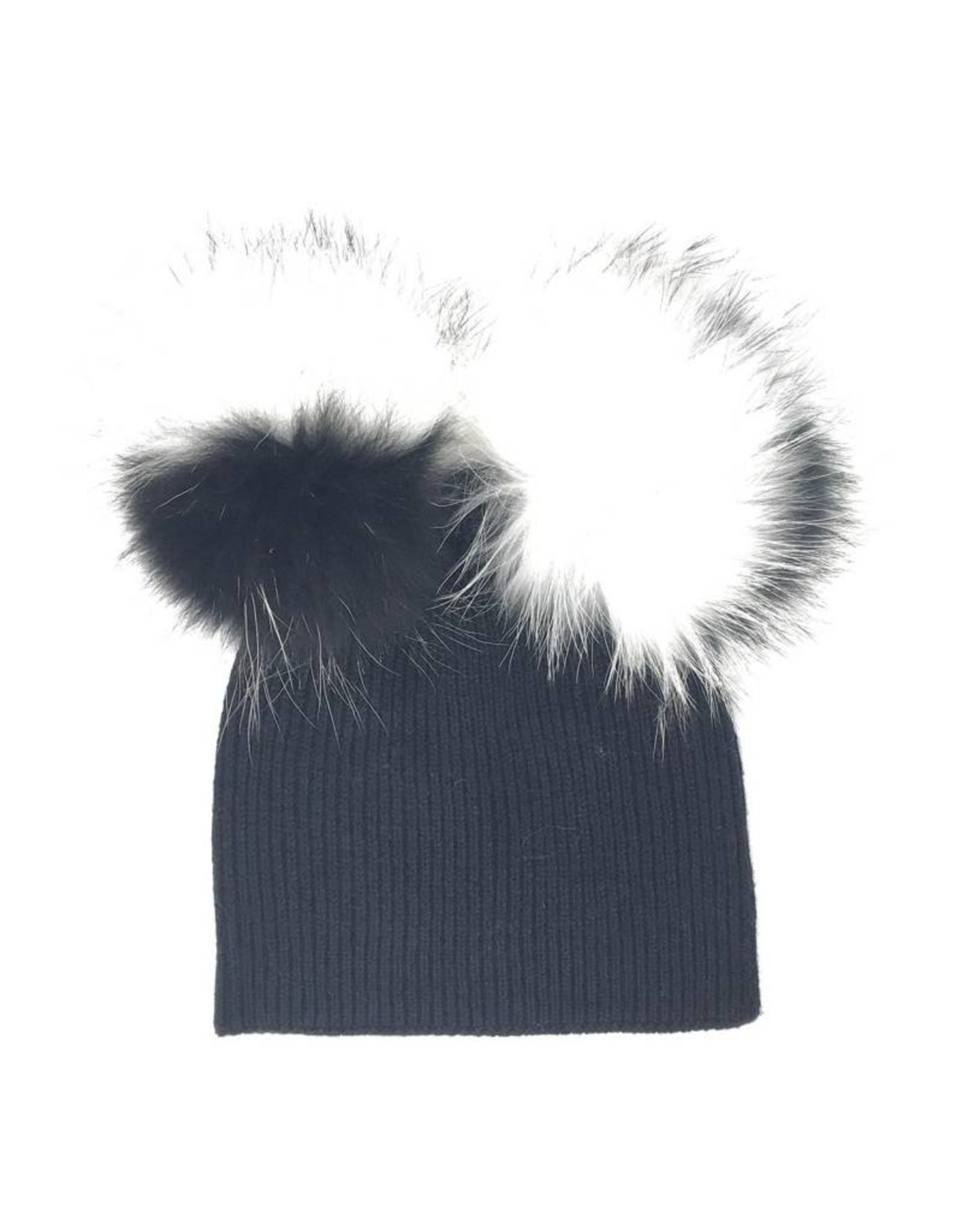 Maniere Maniere Adult Double Racoon Fur Hat