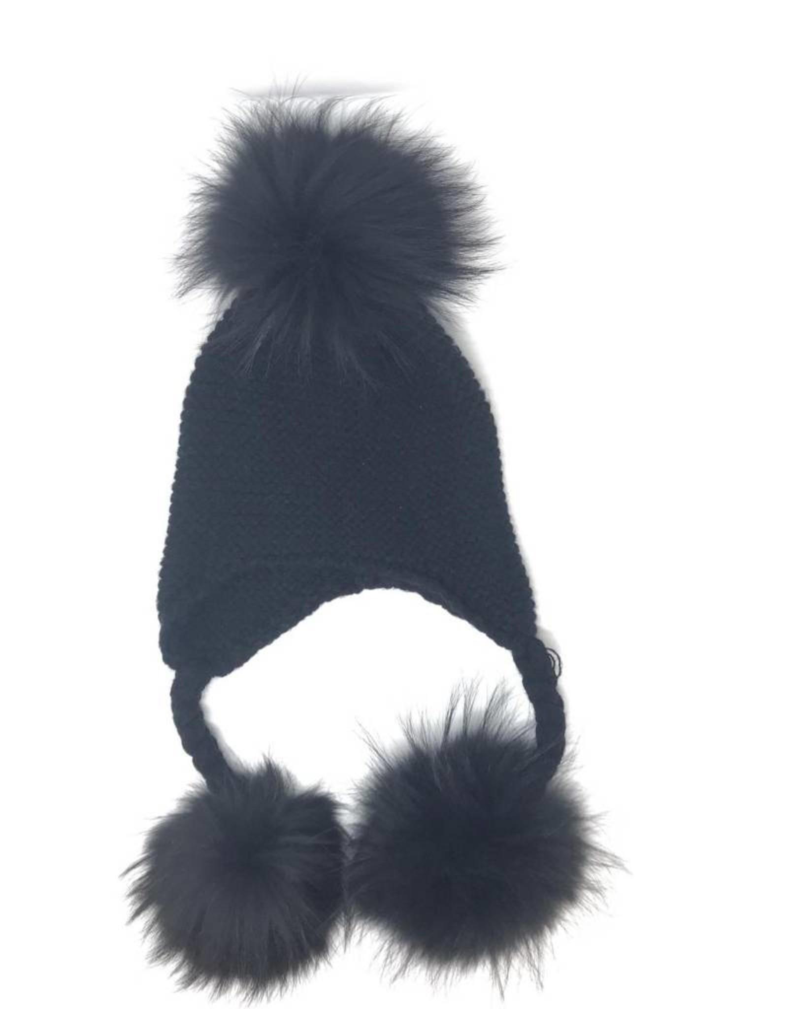 Maniere Maniere Triple Pom Pom Hat