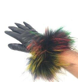 Maniere Maniere Racoon Leather Glove