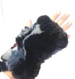 Maniere Maniere Fingerless Rex-Rabbit Gloves