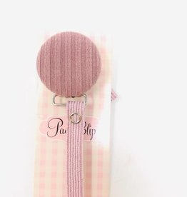 Crystal Dream Crystal Dream Striped Knit Pacifier Clip