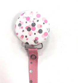 Crystal Dreams Crystal Dreams Metallic Circles Pacifier Clip