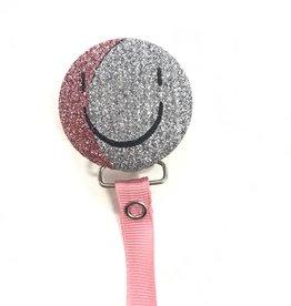 Crystal Dreams Crystal Dreams Shimmer Smiley Face Pacifier Clip