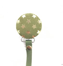 Crystal Dreams Crystal Dreams Metallic Stars Pacifier Clip
