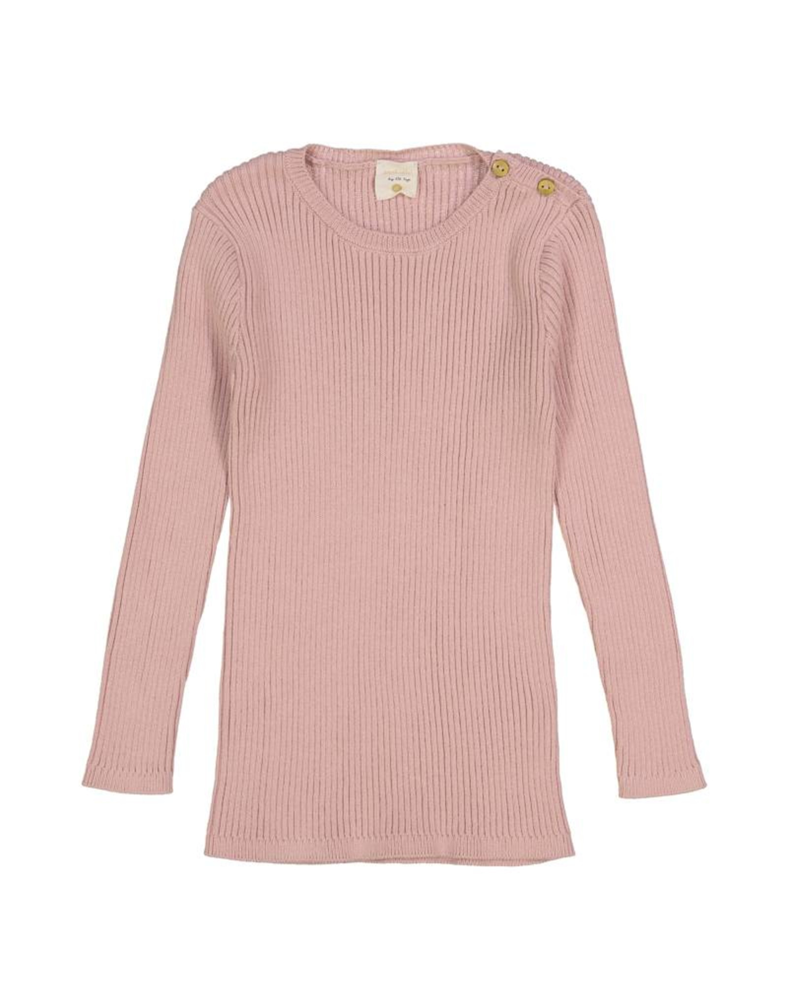 Analogie Analogie SS19 Ribbed Knit Long Sleeve Top