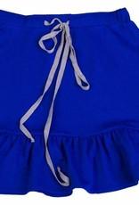 Miss Meme Miss Meme Royal Blue Drawstring Skirt with Ruffled Bottom