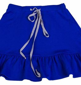 Miss Meme Miss Meme Royal Blue Drawstring Skirt with Ruffled Bottom