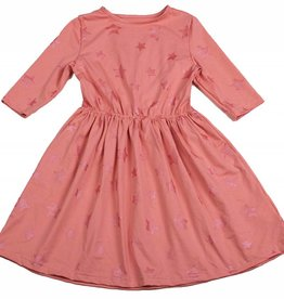 Miss Meme Miss Meme Pink Star Dress with Cinched Waist