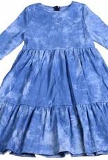 Miss Meme Miss Meme Tiered Denim Dress