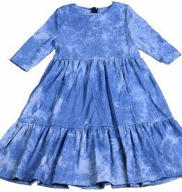 Miss Meme Miss Meme Tiered Denim Dress
