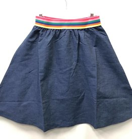 So What So What Rainbow Elastic Denim Aline Skirt