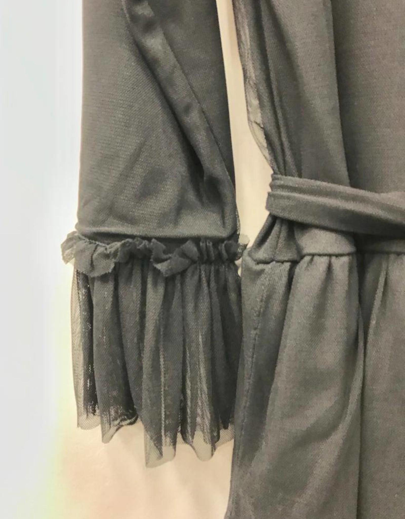 Daniella Faye Daniella Faye Black Tulle Layer Dress