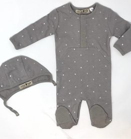 Little Paw Little Paw Star Footie with Bonnet Set