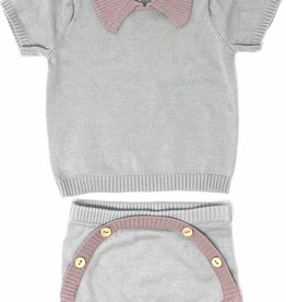LUX LUX Knit Set with Collar
