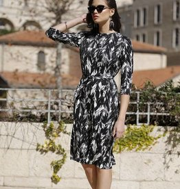 Daniella Faye Daniella Faye Black/White Swing Dress