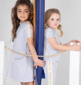 FRAGILE Fragile Side Stripe Dress with Faux Pockets