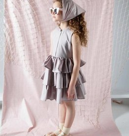 SLICE Slice Three Tiered Mauve Dress