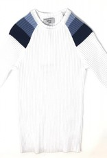 Bzzy Style BZzy Shoulder Ribbed Sweater Top