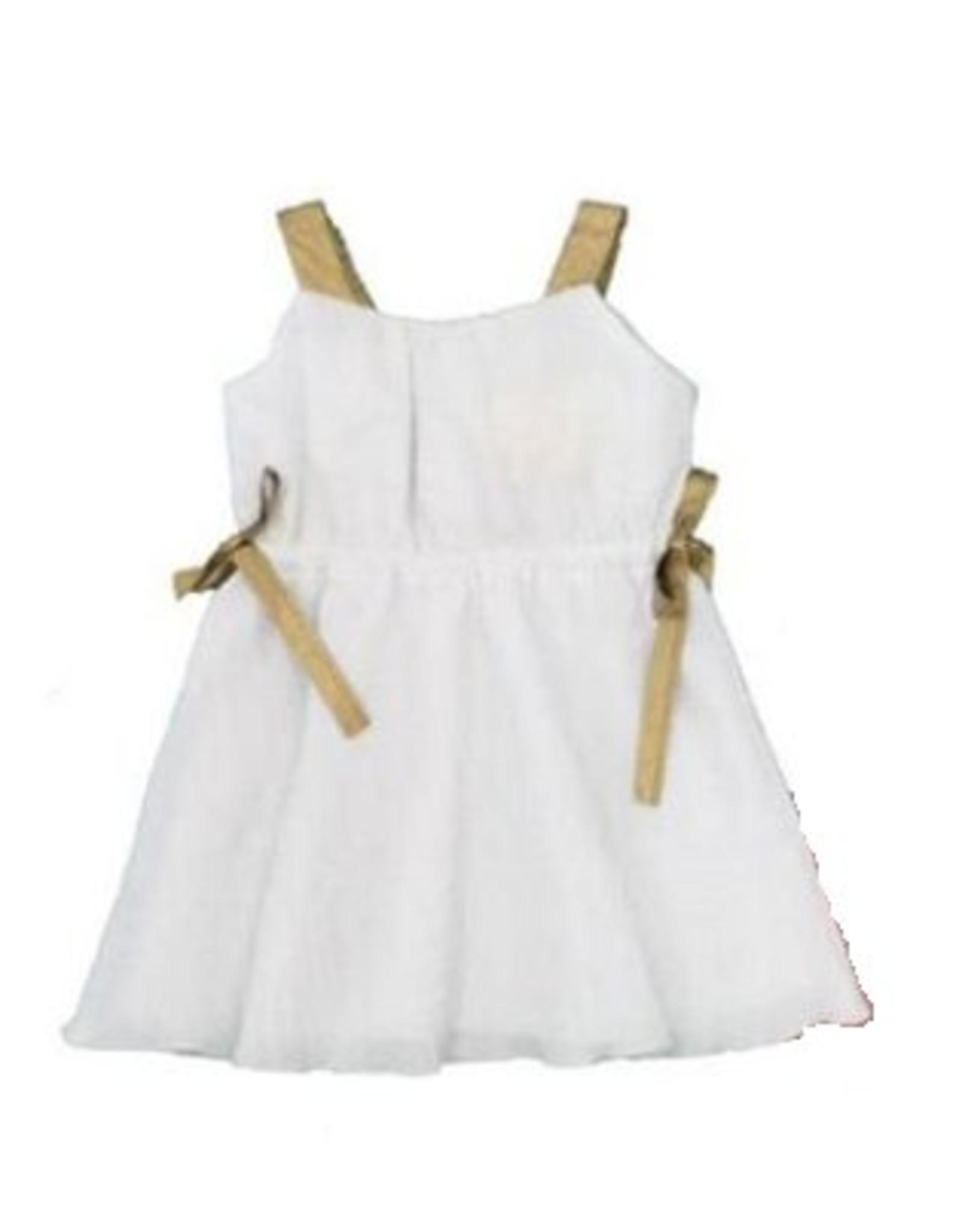 SLICE Slice Crinkle Dress with Gold Straps