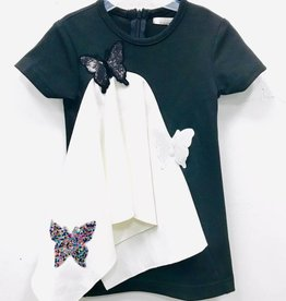 SLICE Slice Butterfly Black/White Dress